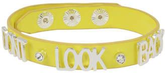 BCBGeneration Don'T Look Back Affirmation Leather-Look Snap Bracelet