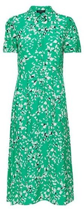 Selected Printed Dress Green - 36