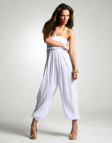 ASOS Cheesecloth Bandeau All-In-One Jumpsuit
