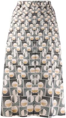 Ports 1961 Geometric-Print Midi Skirt