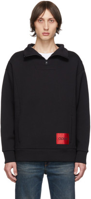 HUGO Black Daipeh Zip Sweatshirt