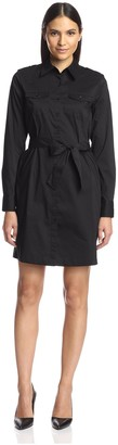 Society New York Women's Belted Shirtdress