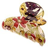 France Luxe Mini Couture Jaw - Floral Rhapsody Purple/Green