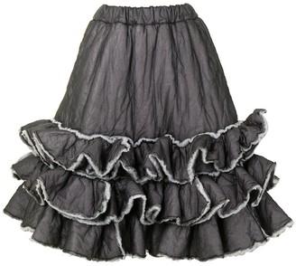 Comme Des Garçons Pre-Owned ruffled A-line skirt