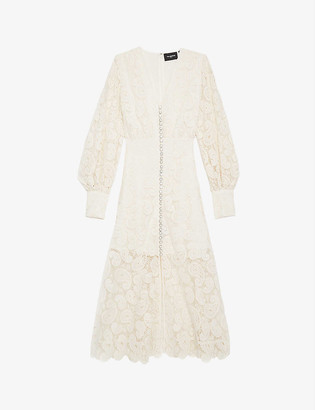 The Kooples V-neck paisley lace maxi dress