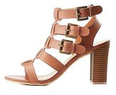 Charlotte Russe Wide Width Buckled Strappy Sandals