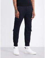Neil Barrett Mens Dark Navy Ribbed Modern Pocket-Detail Slim-Fit Mid-Rise Jersey Trousers