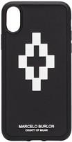 Marcelo Burlon County Of Milan Black 3D Logo iPhone XS Case