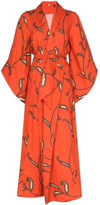 Johanna Ortiz Caoba paisley-print linen kimono