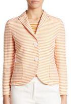 Akris Punto Striped Cotton Linen Jacket