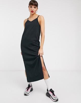 Nike premium jersey slip dress in black