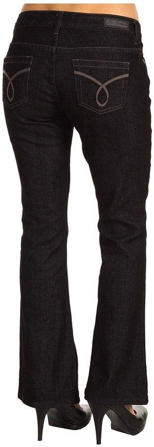 Calvin Klein Jeans Petite - Petite Black Ultimate Boot Jean (Black) - Apparel