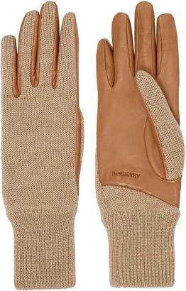 Burberry Logo-Embossed Knit Gloves