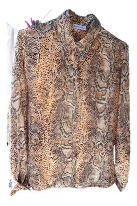 Gerard Darel Brown Silk Top for Women