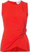 Derek Lam 10 Crosby ruched sleeveless top - women - Silk/Acetate - 0