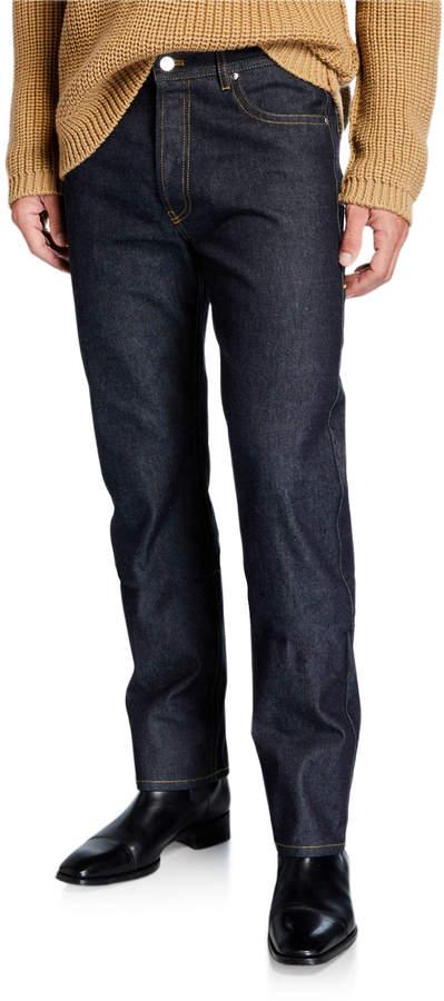 3d3aaf8b Men's Side-Loop Washed Denim Jeans