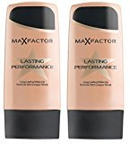 Max Factor Lasting Performance Foundation - 101 Ivory Beige (Pack of 2) + FREE Curad Dazzle Bandages 25 Ct