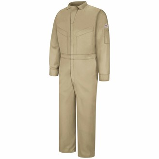 Bulwark Flame Resistant 5.8 oz Cooltouch 2 Long Deluxe Coverall with Concealed Snap Closure On Sleeve Cuff