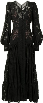 Acler Suffield broderie-trimmed lace dress
