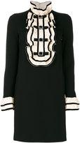 Gucci ruffled bib mini dress - women - Polyamide/Spandex/Elastane/Viscose - M