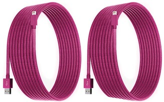 Posh Tech Magenta 10 Ft Apple Certified Charge N Sync Lightning Cables - Pack of 2