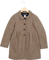 Bonpoint Girls' Houndstooth Patterned Swing Coat