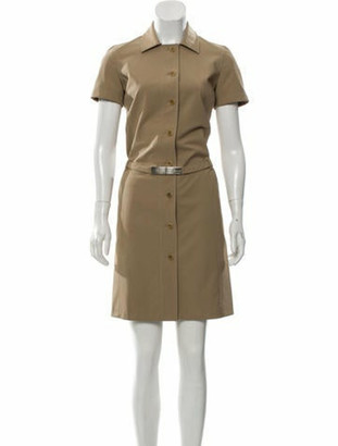 Prada Short Sleeve Dress Beige
