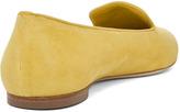 Alexander McQueen Suede Skull Flat in Bright Yellow Multi
