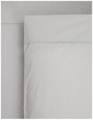 Heritage 1000TC Finest Cotton Sateen Super King Size Sheet in Silver Silver Super