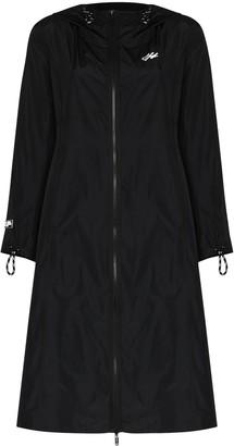 Off-White Logo-Print Hooded Raincoat