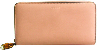 Gucci Pink/Light Pink Leather Nymphaea Wallet