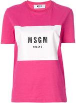 MSGM logo T-shirt - women - Cotton - XS