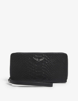 Zadig & Voltaire Campagnon Savage leather wallet
