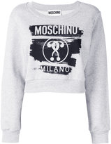 Moschino cropped logo sweatshirt - women - Cotton - 38