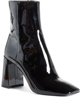 Prada Block Heel Patent Leather Bootie