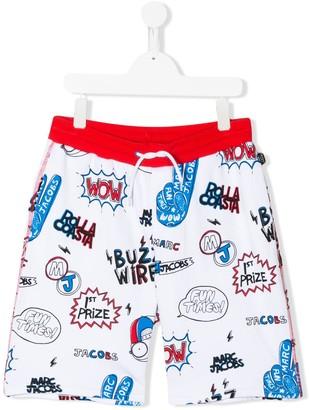 Little Marc Jacobs TEEN comic print shorts