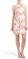 Juniors Smocked Floral Dress