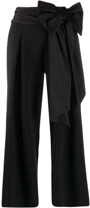Moschino bow ribbon cropped trousers