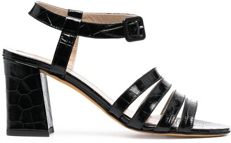 Maryam Nassir Zadeh Palma crocodile-effect sandals