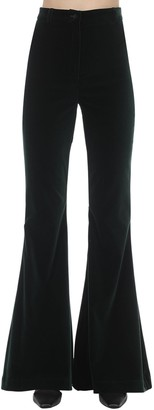 Hebe Studio Bianca Flared Velvet Pants