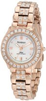 Swarovski Armitron Women's 75/3689MPRG Crystal Accented Rosegold-Tone Dress Watch