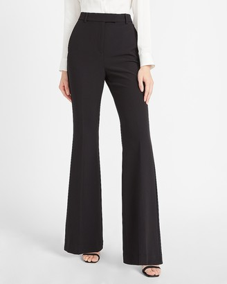 Express Super High Waisted Supersoft Side Tab Flare Pant
