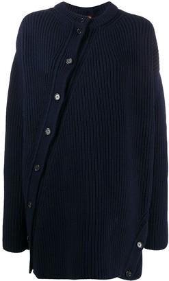 Twisted Oversized Wool Cardigan