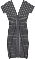 Herve Leger Grey Wool Dress for Women