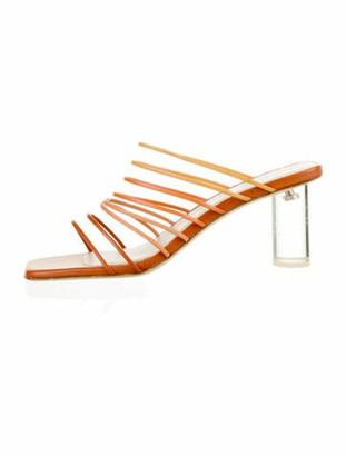 REJINA PYO Leather Slides Orange