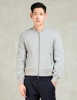 MKI MIYUKI ZOKU Grey Sweatshirt Bomber Jacket
