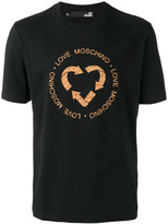 Love Moschino Recycle logo T-shirt - men - Cork/Cotton - L