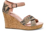 Toms Toms+ rose serpentine strappy wedges