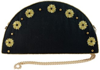 Mary Frances Embellished Chain Clutch