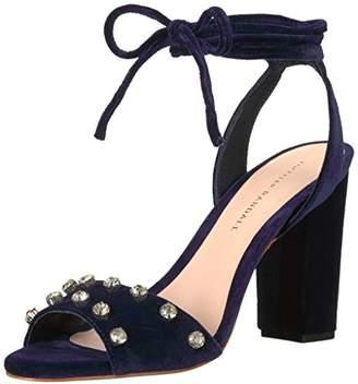 Loeffler Randall Women's Elayna Ankle Tie High Heel Sandal (Leather/Rhinestones) Heeled